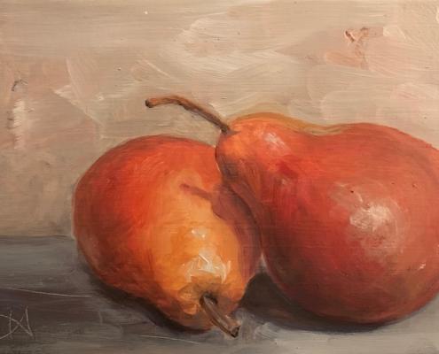 Consolation - Peinture à l'huile sur bois