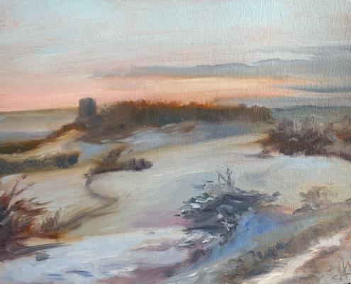 Coucher de soleil sur la tour des Ratières