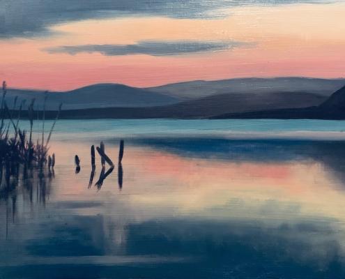Crépuscule sur le Lac