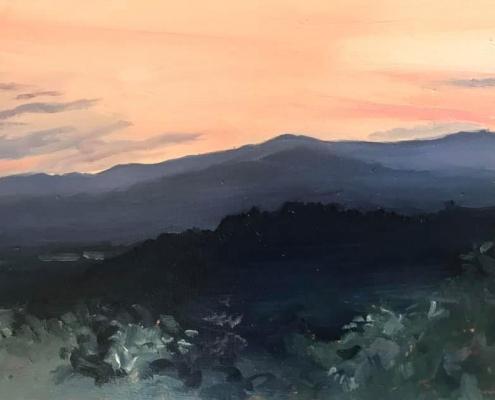 Coucher de soleil sur la Drôme